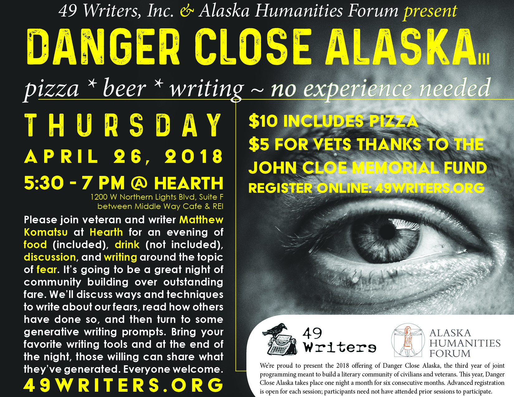 danger close alaska 49 writers inc